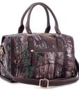 HPDC-RG1-511039-2550 Realtree Girl  Barrel Satchel Handbag with Detachable Strap coffee -Back