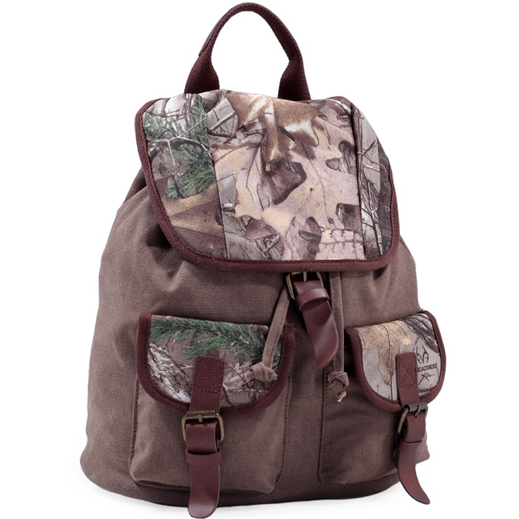 HPRT1-40028-COF-20 Realtree Camo Backpack-Coffee